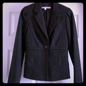 Diane von Furstenberg grey fitted blazer size 4
